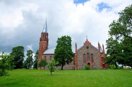Estonia  Viljandi  Beautiful operating church