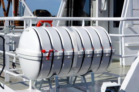 Liferaft save lives during an accident at sea photo