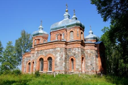 Estland Operating Kirche auf dem Hintergrund des Himmels Lizenzfreie Bilder