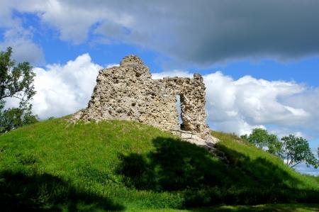 Estland Lihula Ruinen eines Schlosses 13 Jahrhundert Lizenzfreie Bilder