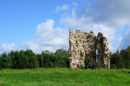 Estonia  Laiuse  Ruins of a castle   15 century Stock Photo