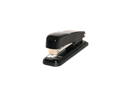 Black stapler on white background Stock Photo - 17581025