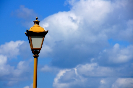 Lantern on a background of the sky and clouds