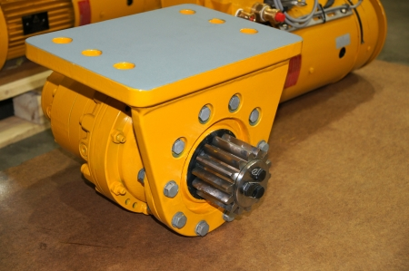 The new hydromotor is prepared for installation Stock Photo