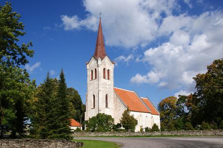 Old church in the center of Estonia Stock Photo