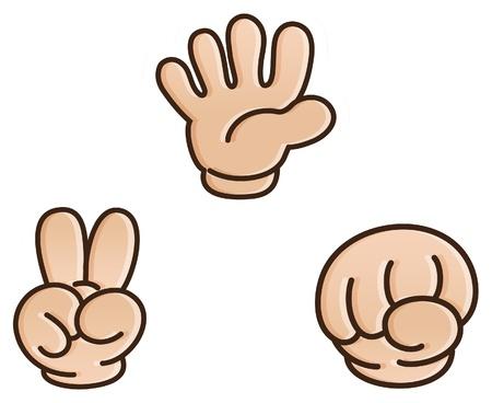 paper people: Rock-paper-scissors game