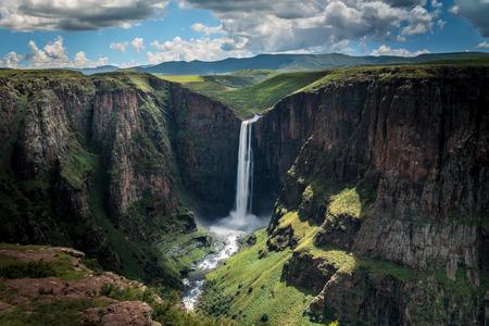 Maletsunyane Falls Lesotho Africa 스톡 콘텐츠
