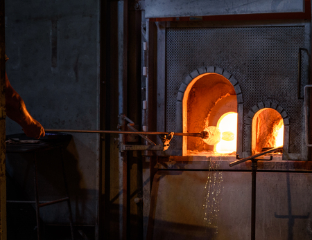 Glass blowing in Murano Italy