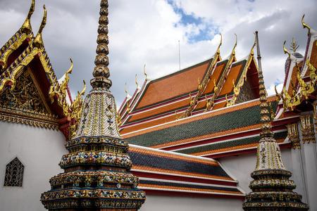 Roof detail of Wat Arun Temple Bangkok Thailand