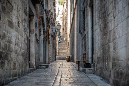 Back streets of Old town Dubrovnik Imagens