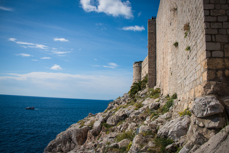 The outer walls of Old Town Dubrovnik