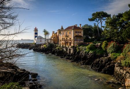 Santa Marta Lighthouse and Museum Cascais Portugal Editorial