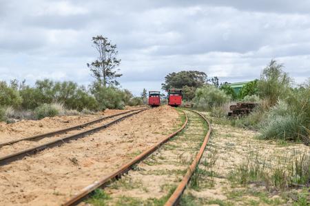 Barril beach trains Rio Formosa Tavira Portugal