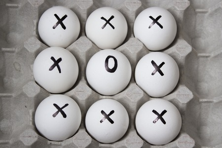 businnes: Drawing on eggs - dissimilar concept