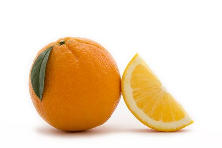 group objects: Slice of orange and orange juice Stock Photo