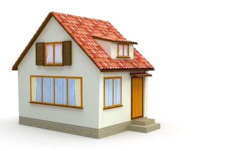 majority: little house on a white background
