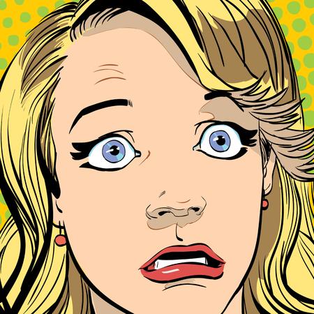 Portrait of surprised woman. Surprised woman. Surprised girl.