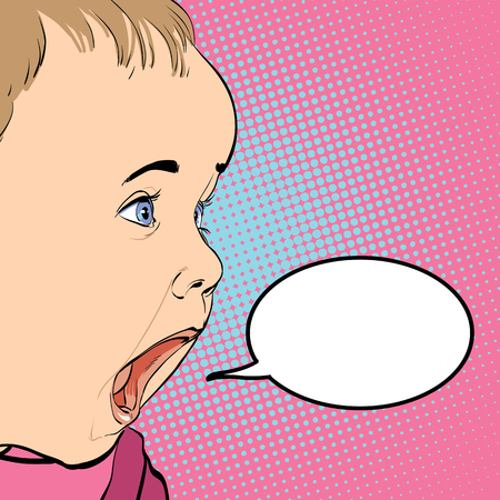 romper: Cartoon Baby crying