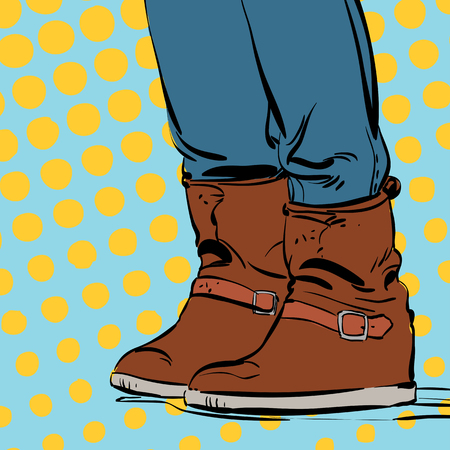 Womans boots. Womans winter shoes Illustration