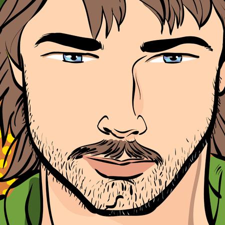 ballad: Cartoon sketch of a man Illustration