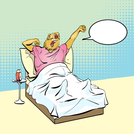 Happy Groundhog Day. Lettering greeting. Vector illustration. Illustration