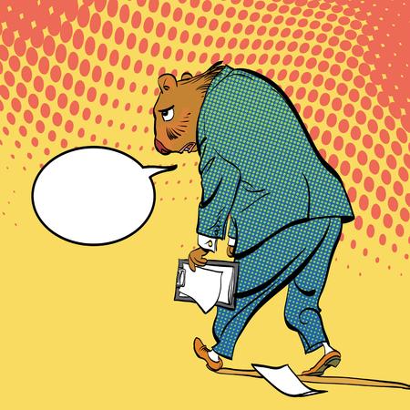 Happy Groundhog Day. Lettering greeting. Sad Groundhog vector illustration.