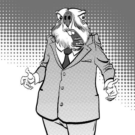 Happy Groundhog Day. Surprised groundhog.
