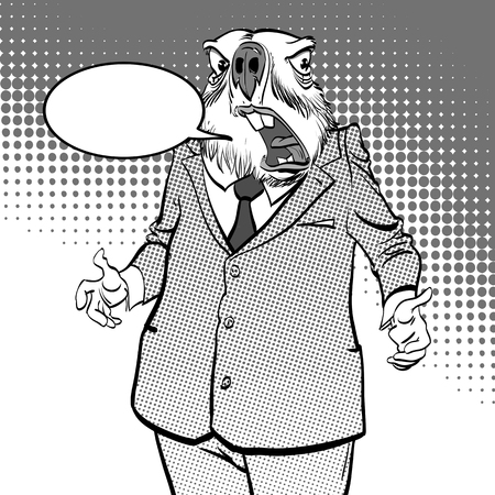 Happy Groundhog Day. Lettering greeting. Surprised groundhog Vector illustration. Illustration