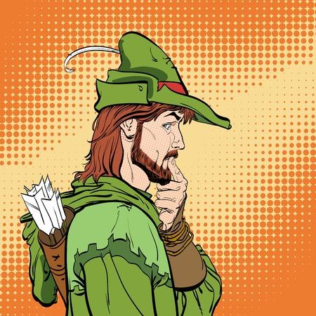 Surprised Robin Hood vector illustration