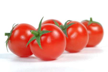 Tomato on white background photo