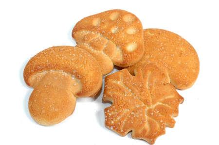 Cookies en fondo blanco Foto de archivo