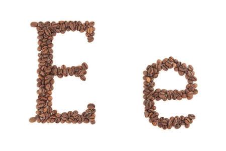 alfabet: The letter E Stock Photo