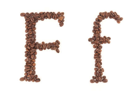 alfabet: The letter F Stock Photo