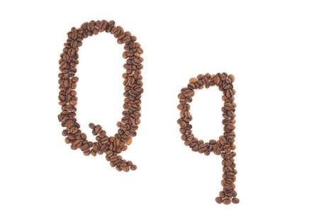 alfabet: The letter Q Stock Photo