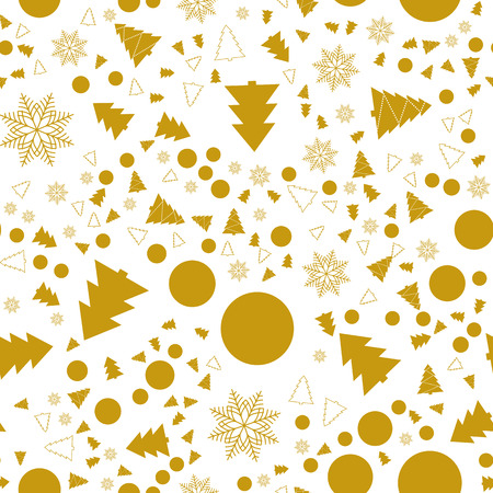 Christmas and New Year seamless pattern. For wrapping paper pattern. Simple and minimal. Tow colours.