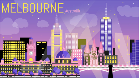Beautiful illustration of melbourne.
