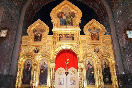 The iconostasis in the Orthodox Church