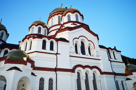 The Temple in the North Caucasus Stock Photo