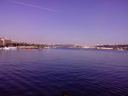 Turkey Istanbul the Bosphorus view of the quantum bridge