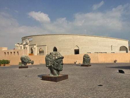 Exhibits of the contemporary museum under the open sky