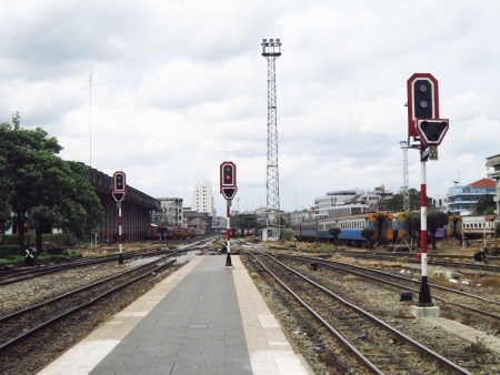 Signal Pole on Railway Station                                photo