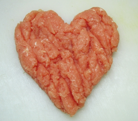 Meat heart of love                               photo