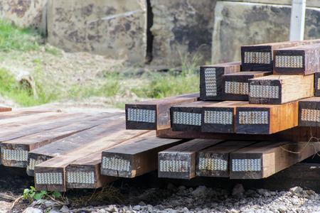 wood railroads: wood block