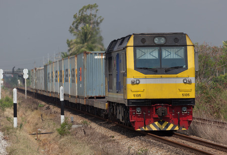 goods train: The container train was going to send the goods 22 may 2016