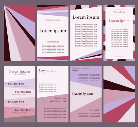 marca libros: A set of forms for the text. The information booklet in shades of purple.