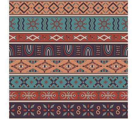 peinture rupestre: Belle seamless couleur. Africaine, motifs ethniques. Illustration