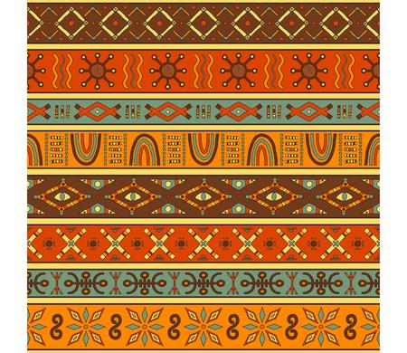 Beautiful colored seamless pattern. African, ethnic motifs. Illustration