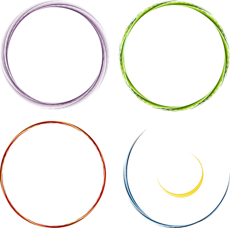 colore: Set of round elements for design. Frame, border.