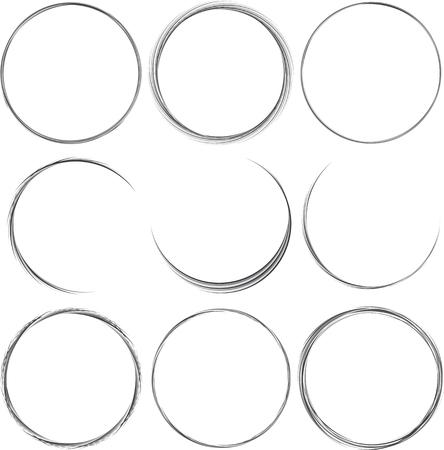 bezel: Set of round elements for design. Frame, border.