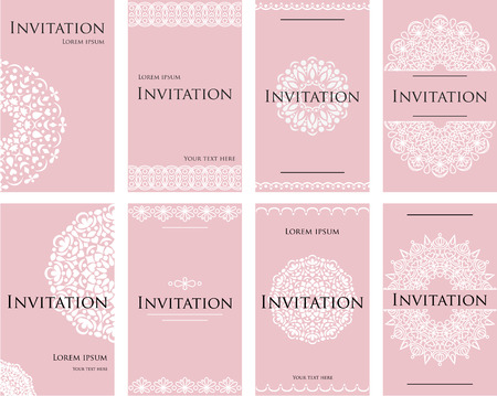 A set of invitations for a wedding celebration. Beautiful card, letterhead for the text. Gentle pastel shade.